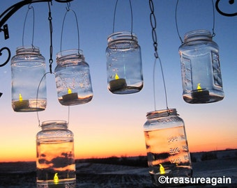 DIY Mason Jar Lanterns Wire Hangers for Recycled Jars, Upcycled Lighting, Garden Party Luminaries, Hanging Candle Jars, Jar Hangers Only