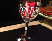 Sale...Alabama or Auburn wine glasses