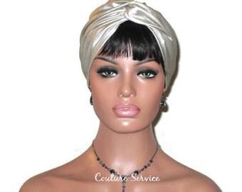 Champagne Turban, Leather, Women's Turban,  Fashion Turban, Twist Turban, Pearl Turban, Leather Turban, Fashionable Turban, Turbin, Turbante