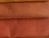 Pure Linen EARTHTONES sampler Fat Quarters eco friendly fabric sewing crafts home decor from MyGypsyCottage on Etsy