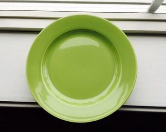Vintage Harlequin Chartreuse Cake Plates