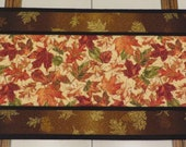 Fall Leaf Table runner quilted handcrafted