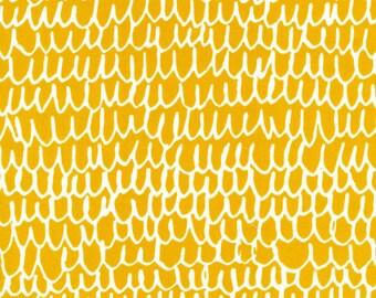 Organic Cotton Fabric - Cloud9 Fabrics Yoyogi Park - Shrubbery Gold