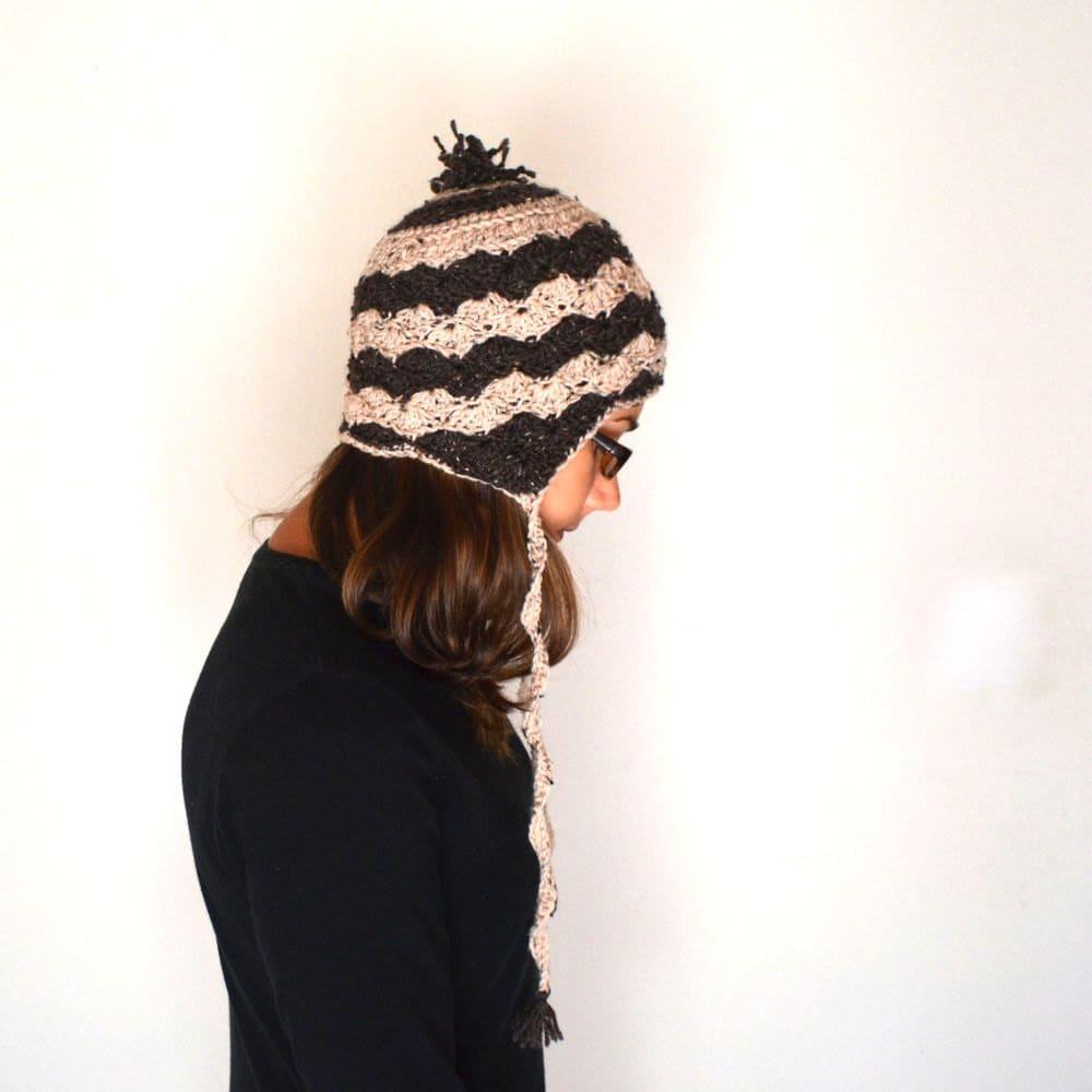 Crochet Beanie Pattern Ear Flap Hat Pattern For Men