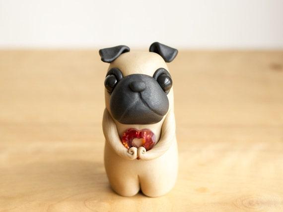Pug Love - Pug Figurine by Bonjour Poupette