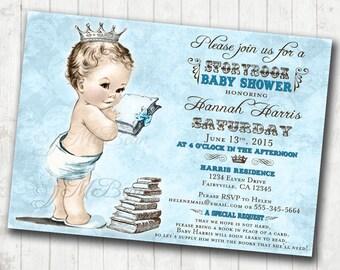Boy Baby Shower Invitation Storybook Baby Shower Invitation For Boy Baby Shower - Storybook Invitation - DIY Printable