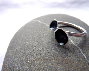 Curious Craters stacking ring by hybrid handmade, Cari-Jane Hakes from the Essential Simplicity Series