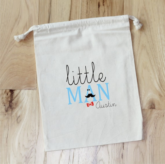 LITTLE MAN - Mustache - Personalized Favor Bags - Set of 10 - Birthday - Shower