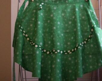 bright green aprons polka dot holiday