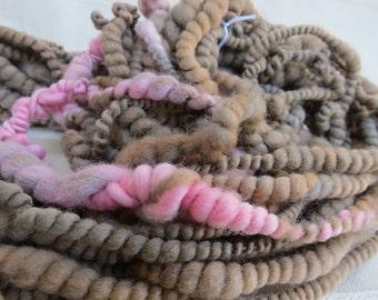 Hand spun Art Yarn handspun hand dyed Knitting Crochet Supplies Waldorf Hair Merino wool photo prop