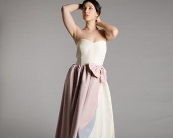 80s Strapless Gown - Vintage 1980s Wedding Dress - Neopolitan Wedding Dress