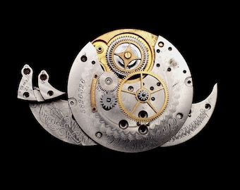 Steampunk Snail (Animal Brooch or Pendant)