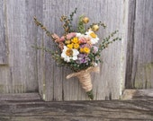 Country CALICO Wedding Boutonniere - Perfect for your Country Wedding