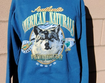 Vintage 1980's Wolf Sweatshirt