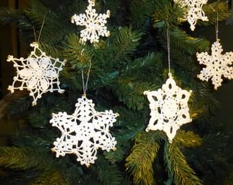 Christmas SALE, Crochet Snowflakes, Christmas tree ornaments, Snowflake Ornament, christmas decor, Tree Ornament, Beaded, white, snowflake