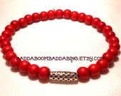From USA Red Stretch Bracelet Weave Bead Collection - BaddaBoomBaddaBing Jewelry and Gifts