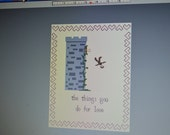 The Things You Do For Love Game of Thrones Cross Stitch Pattern