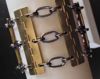 Wide Hinge Bracelet