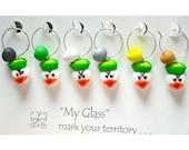 Duck Wine Charms by Kim Lugar