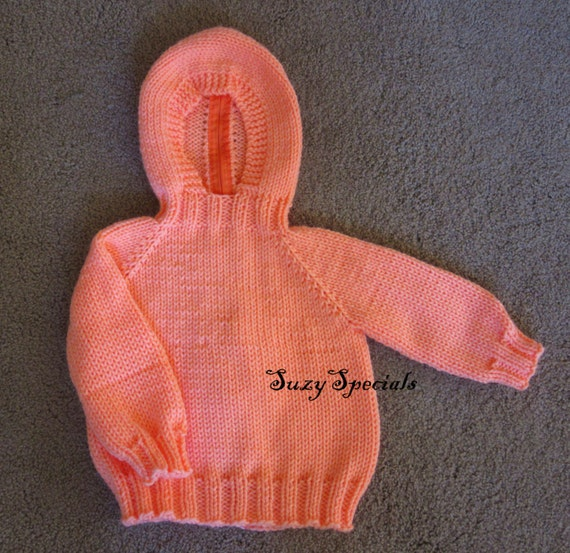 Hooded Knitted Baby Sweater with Back Zipper 6 by SuzySpecials