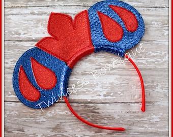 Snow White Mouse Ears Headband by Twincess Bowtique - CUSTOM