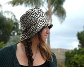 Leopard Print Hat Fall Winter Hat Gift for Her Bucket Hat Birthday Gift Freckles California