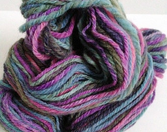 "Handspun Yarn -- ""Dream Sequence"" -- 100% Portuguese merino -- 98 yards worsted weight"
