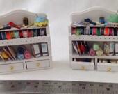 Dolls House Miniatures - Sewing Shelf x1