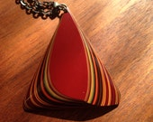 Layered Resin Pyramid Necklace