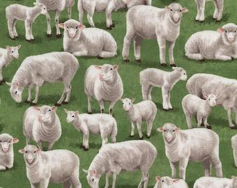 Grazing Sheep Timeless Treasures Novelty Fabric