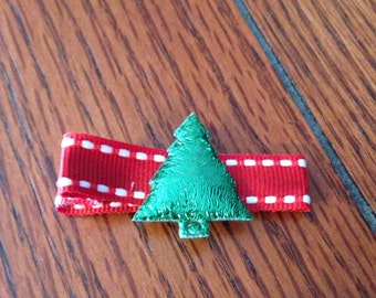 One dollar Xmas tree hair clippie/non slip