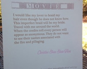 "Christine Shan Shan Hou broadside for ""Movie"""