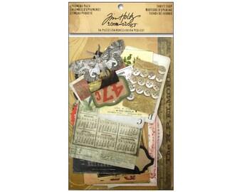 Tim Holtz Thrift Shop Idea-ology Ephemera Pack Scrapbooking Art Journaling Die Cut Paper Engravings Photos Ads