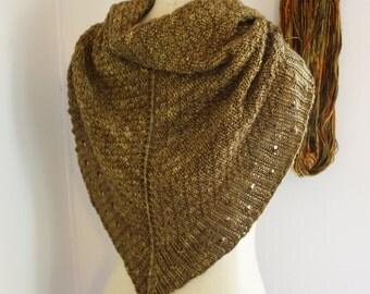 Shawl Mitts Knitting Pattern / Chunky Diamond Textured Knit / Diamants / PDF Digital Delivery