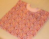 Large Pull Over Bib - Pink Flowers