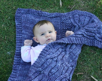 Deschutes Baby Blanket and Throw PDF pattern