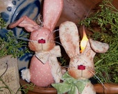 Patti's Ratties Primitive Spring Bunny Rabbit Doll Ornie Pattern 413