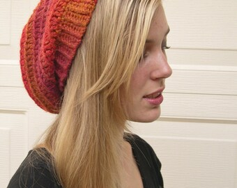 Sunset slouchy hat, Winter Fashion 2016, cozy hat, Fashion slouchy hat, made to order, trends fashion slouchy hat