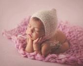 Orchid Dusty Rose Handspun Merino Blanket - Photo Prop Baby Girl Newborn Photography Merino Basket Stuffer