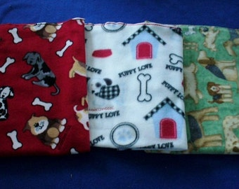 Dog Blanket, medium, with Dog Bone Squeaker Toy available as separate purchase