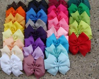 10 Large Pinwheel Hair Bows You Pick Colors