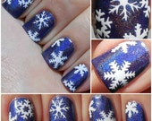 Snowflakes - Vinyl Nail Decals - Lacquer by Lissa