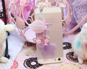 Pop Kei Stars And Planets Headphone Jack  Phone Charm