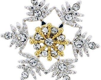 Crystal Christmas Snowflake Pin Brooch 1012662