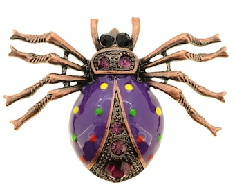 Purple Spider Pin Brooch 1002031