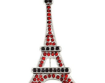 Ruby Paris Eiffel Tower Brooch/Pendant 1001833
