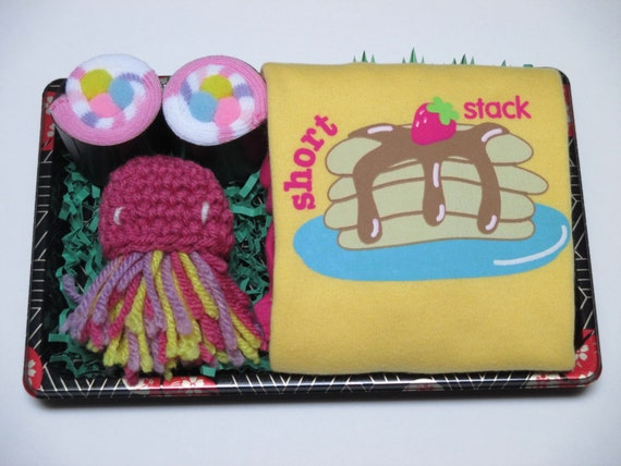 Baby Girl Sushi - Jellyfish Toy - Short Stack Pancakes - Baby Booties