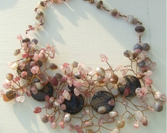 Shades of Autumn - One of a Kind Statement Necklace
