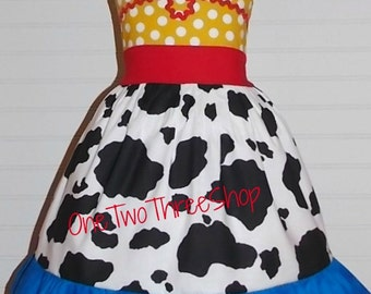 Custom Boutique Clothing  Jessie Toy Story Inspired  Sassy Girl Dress