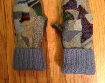 Wool Sweater Mittens